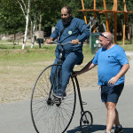Penny Farthing with Cycles Recycled and ICycles